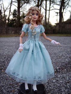 Custom Barbie, Custom Dolls, Alice In Wonderland Doll, Mia Wasikowska, Inspirational Celebrities, Doll Repaint, Hello Dolly, Doll Hair, Rabbit Hole