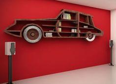 Wall shelf and bookcase models - Life ideas Creative Bookshelves, Bookshelves Kids, Batman Bookshelf, Bookcase, Home Design Decor, Diy Home Decor, Room Decor, Home Decor Furniture, Furniture Design
