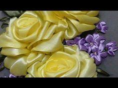 Розы в моем творчестве. Разживалова Наталья. Вышивка лентами. - YouTube