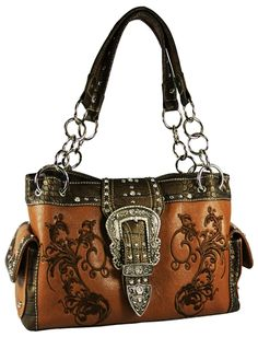 Brown western handbag