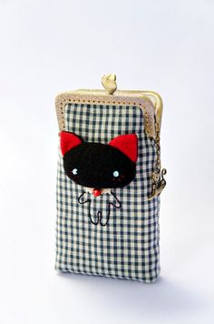 Cell phone case iPhone case Glasses case Cat cell by DooDesign, $26.00