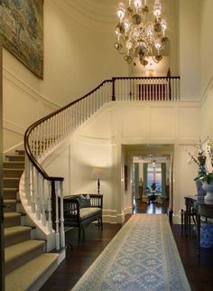 Two story entryway