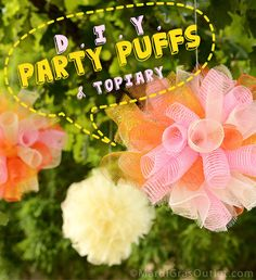 Deco Mesh, How to, Tutorials, DIY, Topiary Ideas, Birthday Party Ideas, Summer Tablescape, Centerpiece