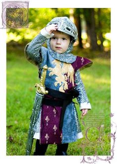 A cute Knight costume for kids.