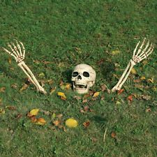 3 Piece Halloween Horror Buried Alive Skeleton Skull Garden Yard Lawn Decoration