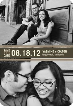 Save the Date Magnets Twice As Nice - Front : Dark Gray...I JUST LOVE THIS