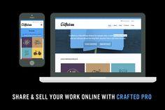 Crafted Pro - Portfolio & eCommerce
