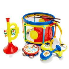 Baby Drum Set, Toddler Toys, Kids Toys, Drum Set Music, Drums For Kids, Cleaning Toys, Dogs And Kids, Animal Design, Summer Fun