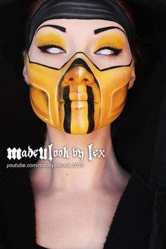 Mortal Kombat- Kitanna, Halloween Make Up Sfx Makeup, Costume Makeup, Makeup Art, Mask Makeup, Zombie Makeup, Halloween Make Up, Halloween Face Makeup, Halloween Costumes, Halloween Zombie