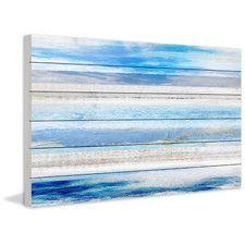 Baia Azul Painting Print Plaque