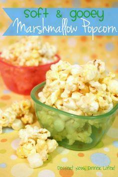 Marshmallow Popcorn from DessertNowDinnerLater.com