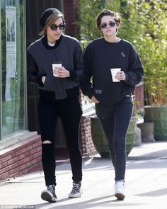 Spending more time: Kristen Stewart grabbed lunch and coffee with her former assistant-tur...