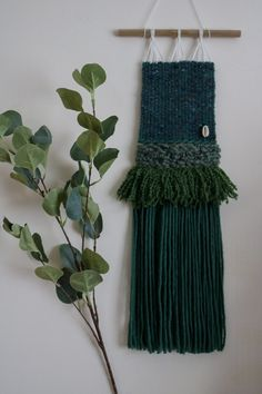 Woven Wall Hanging, Vintage Wool, Wall Hangings, Plant Hanger, Gallery Wall, Interiors, Texture, Boho, Handmade