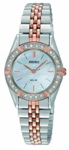 Seiko Women's SUP112 Dress Solar Classic Watch Seiko. $165.00. Water-resistant to 30 M (99 feet). Solar. Hardlex crystal. 24 Crystals. No battery required. Save 45% Off!