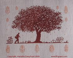 Under the Oak. I'd change the color and use just the tree. Then put family member names all around it