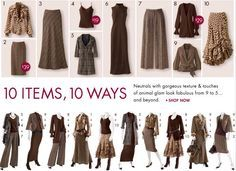 Outfit ideas - Now I want to go look in my closet and see how my assorted neutral pieces can be put together differently.  :-)