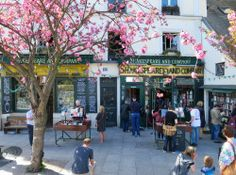 It is an absolutely beautiful day in Paris and our favourite cherry blossom tree has just bloomed!  Photo © Shakespeare and Company.