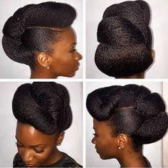 8. Updo Hochzeit Frisur für schwarze Frauen
