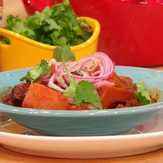 Pork Stew with Ancho Chiles and Squash | Rachael Ray Show