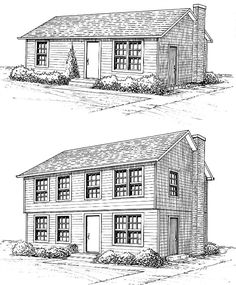 small ranch to colonial plans