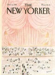 """The New Yorker - Monday, October 5, 1981 - Issue # 2955 - Vol. 57 - N° 33 - Cover by : """"Sempé"""" - Jean-Jacques Sempé"""