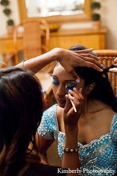 indian wedding reception bride makeup http://maharaniweddings.com/gallery/photo/12295