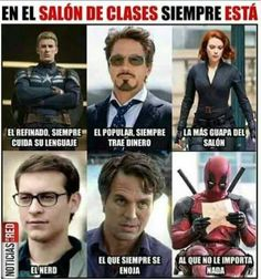 Read from the story Memes Marvel by -MrsEvans (Jacque Rogers Maximoff Parker Pool) with reads. Memes Marvel, Avengers Memes, Marvel Funny, Marvel Avengers, Marvel Universe, Spanish Memes, Best Memes, Funny Jokes, Laughter