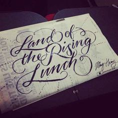 """Have you ever seen hand lettering so beautiful that it made you want to puke? Well, the creator of the """"Spew Bag Challenge"""" site has you covered. Each of these images are hand-drawn with pencils, Sharpies and various other pens and writing instruments (which the illustrator places next to the image). - See more at: http://www.howdesign.com/how-design-blog/hand-lettering-spew-bags-puns/#sthash.JFvppT0D.dpuf"""