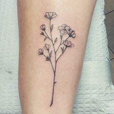 Tiny buttercup flowers I did today on a wrist. #wildflowers #tinytattoo #flowertattoo #chicagotattoo