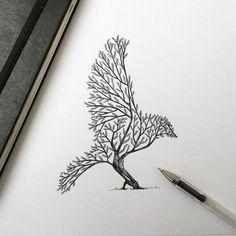 Tatouage arbre : pin, laurier, chêne, bouleau, olivier ...