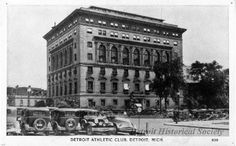 Detroit Athletic Club postcard, 1920s