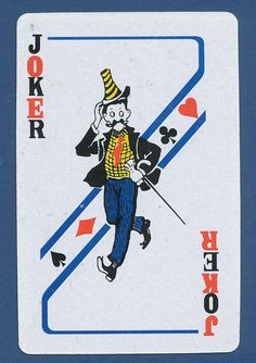 joker has hat and cane playing card single swap JOKER - 1 card