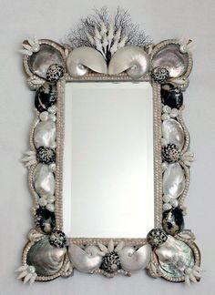Mirror made of shells http://loft-concept.ru/