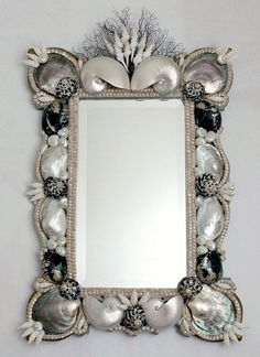 Mirror made ​​of shells http://loft-concept.ru/