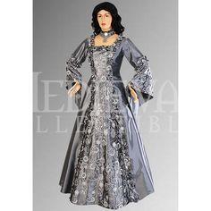 Silver Baroque Renaissance Dress - MCI-192 by Medieval Collectibles