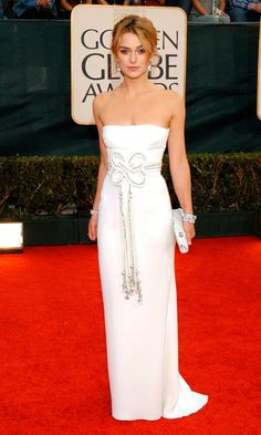 Keira Knightleys Elegant Valentino Dress Was Perfect For The Red Carpet At The Golden Globe Awards, January 2006