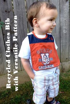 DIY Recycled Clothes Bib with Versatile Pattern
