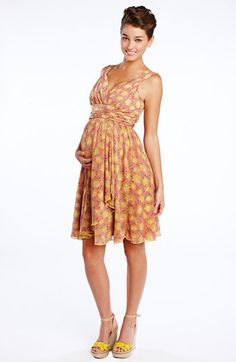 Maternal America Ruffle Wrap Maternity Dress available at #Nordstrom