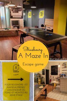 Avis sur A Maze In, escape game à Strasbourg. Une bonne idée d'activité entre amis ou en famille, par une journée de pluie par exemple!