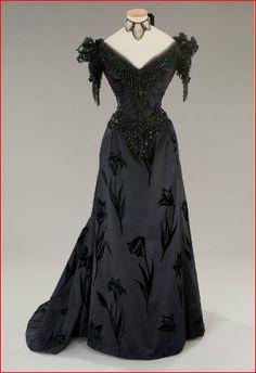"Black ball gown from the 1976 Italian film ""L'innocente"".  Piero Tosi design for Jennifer O'Neill."