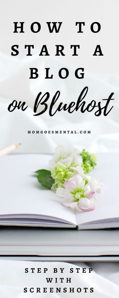 Start a Blog on Bluehost Today! - Learn step by step what you need to get set up with screenshots. Then find out how to beautify your blog, grow your audience, and make money blogging. via @momgoesmental