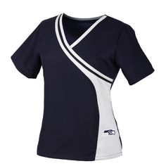 Seattle Seahawks Women& Two Tone NFL Scrub Top dentaluniforms Healthcare Uniforms, Medical Uniforms, Hospital Uniforms, Scrubs Uniform, Scrubs Outfit, Ashley Clothes, Scrubs Pattern, Beauty Uniforms, Greys Anatomy Scrubs