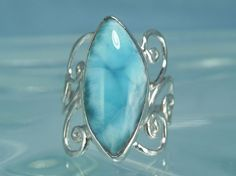 "spiral swirl larimar ring ""just love larimar"""