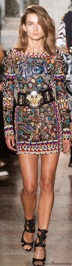 Emilio Pucci | S/S 2014  (Lynci thinks that this dress is just a bit wild, but she likes it and may wear some day when she's in a daring mood!)