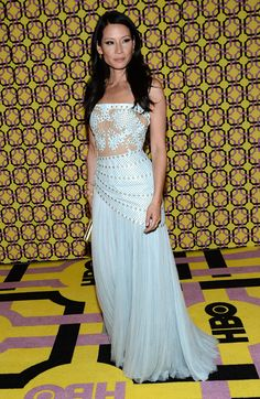Fabulously Spotted: Lucy Liu In Atelier Versace Dress At The 2012 Emmy Awards Post Awards Reception - Because I Am Fabulous