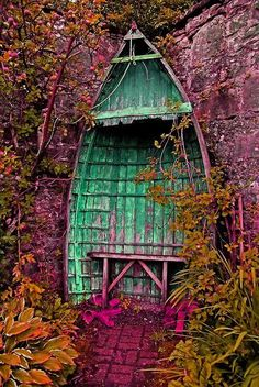 Tassels - an old wooden boat makes a spectacular garden folly/refuge