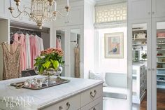 Atlanta Homes & Lifestyles' 2017 Southeastern Designer Showhouse (House of Turquoise) Dream Closet Design, Atlanta Homes, Interior, Home, Discount Bedroom Furniture, Glass Shelves Kitchen, Show Home, Beautiful Cabinet, Closet Design