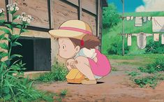 Animated gif shared by Claudia. Find images and videos about cute, studio ghibli and totoro on We Heart It - the app to get lost in what you love. Hayao Miyazaki, Art Studio Ghibli, Studio Ghibli Movies, Anime Studio, Japon Tokyo, Tamako Love Story, Girls Anime, Film D'animation, Howls Moving Castle