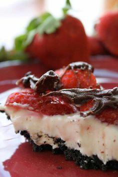 Choc covered strawberrt pie