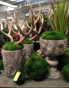 The air in New York has finally turned crisp, and I can now fully embrace  the changing leaves and temperature of fall in the city. City or country,  there are beautiful decorative ideas that can create an inviting  arrangement or beautiful display. Mixing faux bois and antlers, for  example, is a way to bring the outdoors in, and these large planters from  Botanica can hold massive amounts of Orchids or Mums. I discovered them as  I raced around High Point Market, and I love their rustic…